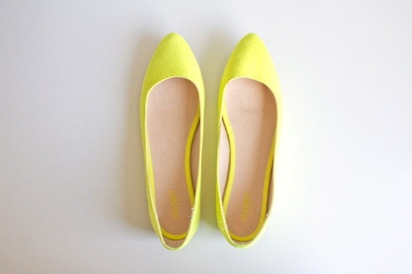 DIY Gold-Toe Flats