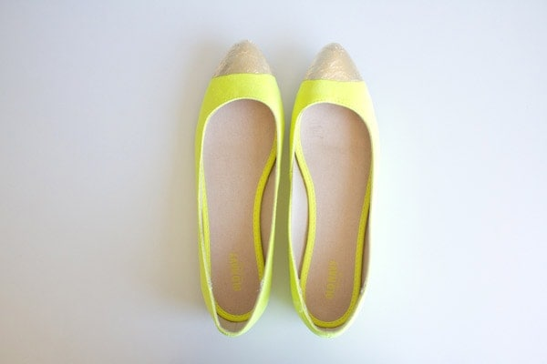 DIY Gold-Toe Flats