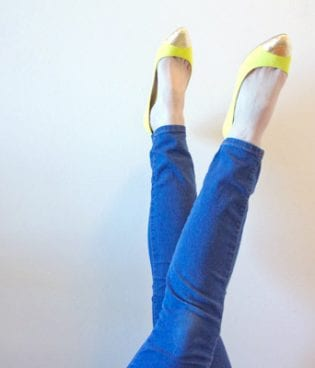 DIY Gold-Toe Flats thumbnail
