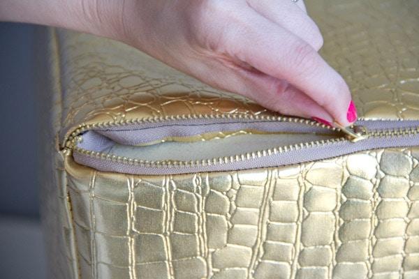 DIY Faux Leather Ottoman