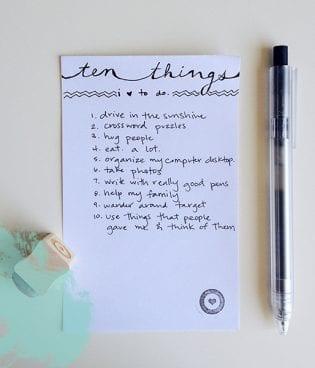 Ten Things: Stuff I Love to Do thumbnail