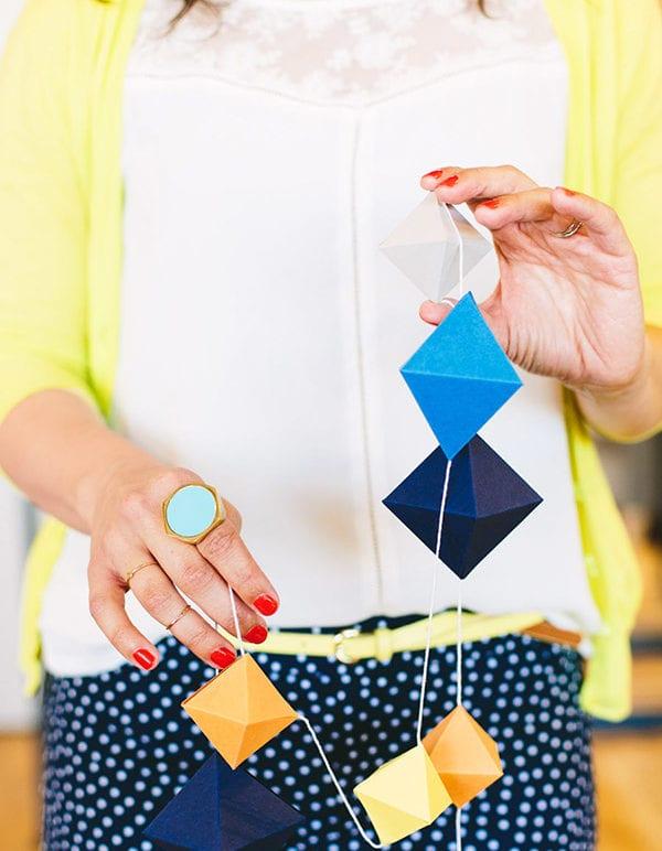 DIY Geometric Paperfold Garland & West Elm Recap thumbnail