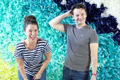 how to make a tissue paper backdrop for parties