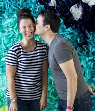 DIY Ombre Tissue Paper Photobooth Backdrop thumbnail