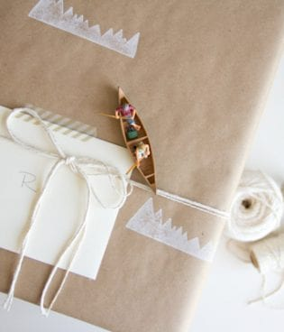 DIY Mountain Stamped Wrapping Paper thumbnail