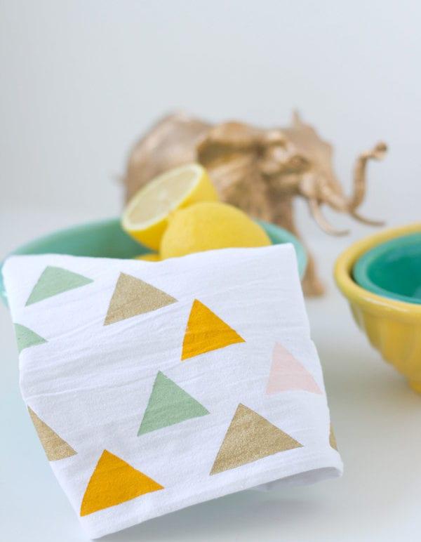 DIY Stenciled Tea Towels thumbnail