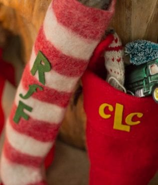 DIY Monogrammed Stockings with West Elm thumbnail