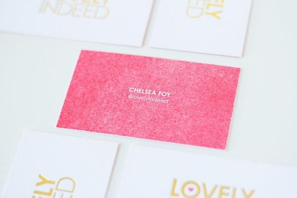Gold Foil Business Cards