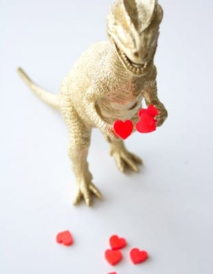 DIY Golden Dino Valentine