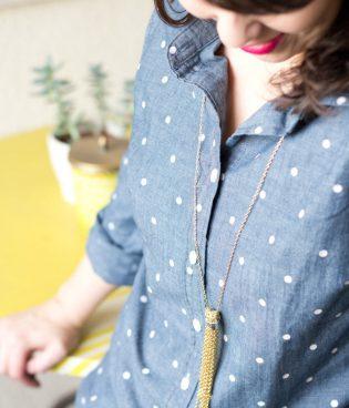 DIY Tassel Chain Necklace thumbnail