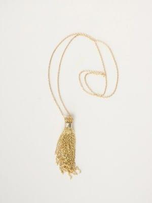 DIY Chain Tassel Necklace