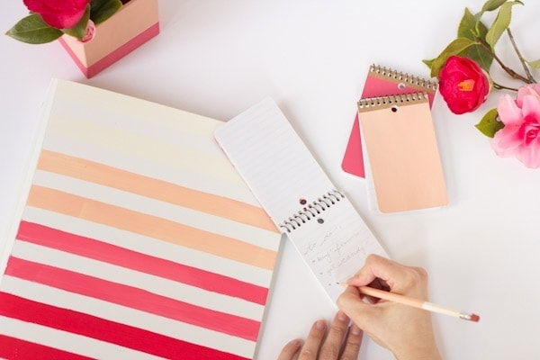 DIY Ombre Painted Office Supplies