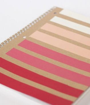 DIY Ombre Stripe Valentine Office Supplies thumbnail