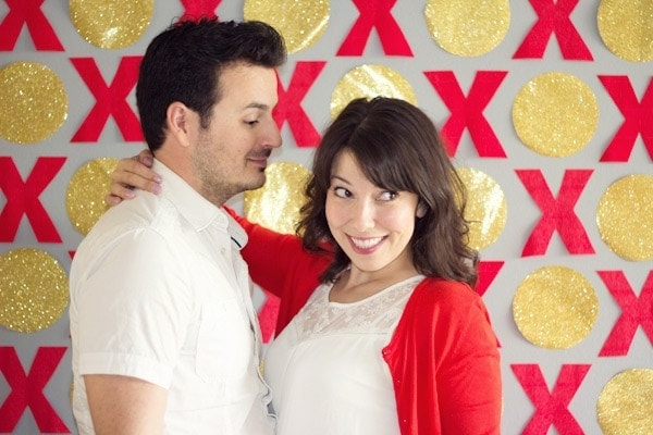 diy valentine photobooth backdrop