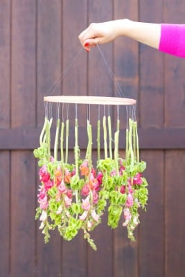 DIY Floral Chandelier