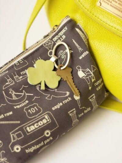 DIY Leather Shamrock Keychain