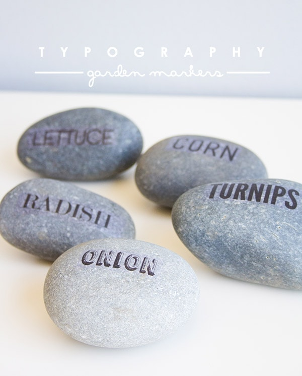 DIY Typography Garden Marker Download