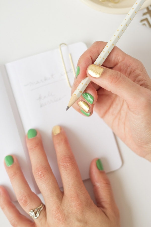 DIY Gold Leaf Manicure
