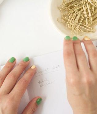 DIY Gold Leaf Manicure thumbnail