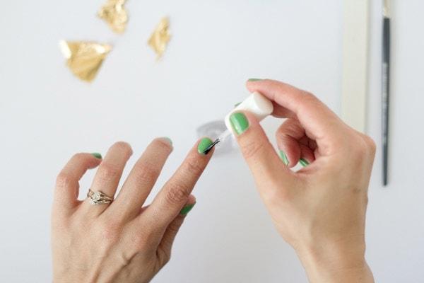 DIY Gold Leaf Manicure