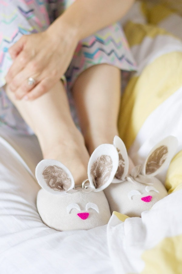 DIY Bunny Slippers