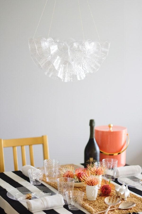 DIY Cup Chandelier