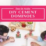diy cement dominoes