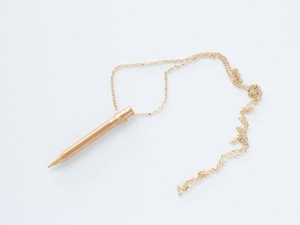 DIY Gold Pencil Necklace