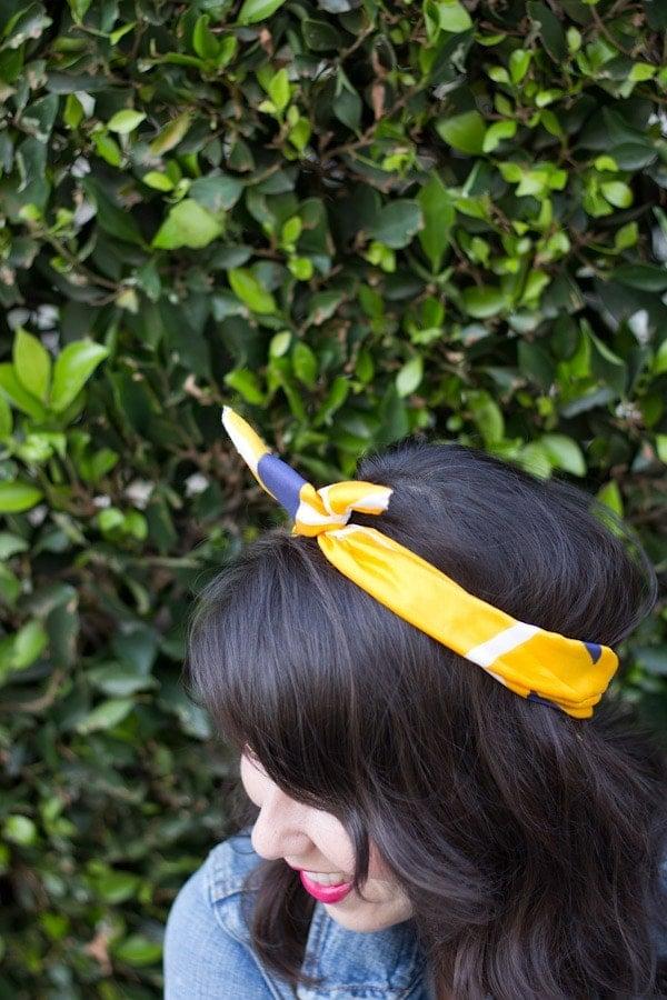 DIY Vintage Twist Scarf