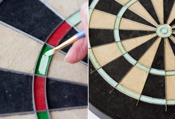 Dart backboard diy do it your self diy for Diy dartboard lighting