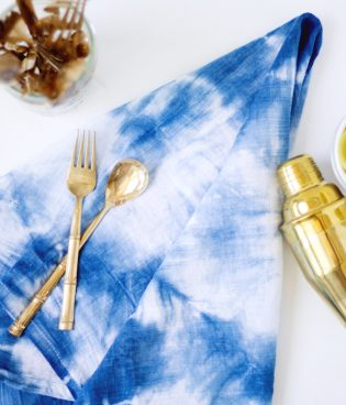 DIY Indigo Shibori Dyed Kitchen Towels thumbnail