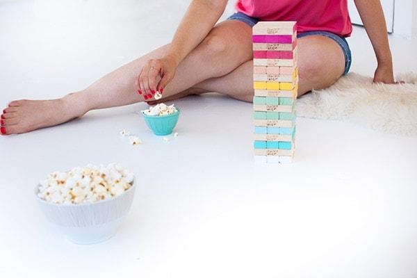 DIY Ombre Jenga