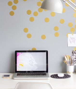 DIY Gold Confetti Wall thumbnail