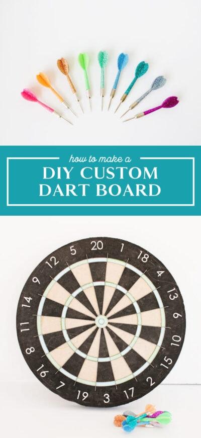 how to make a diy dartboard
