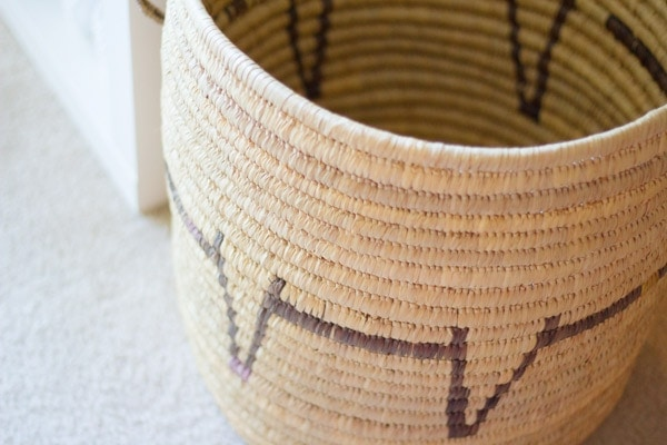 DIY Painted Woven Basket