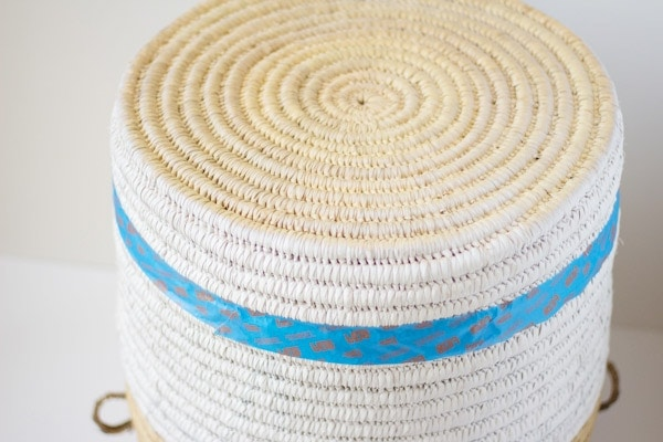 DIY Painted Woven Basket