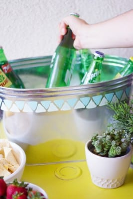 DIY Painted Galvanized Tub