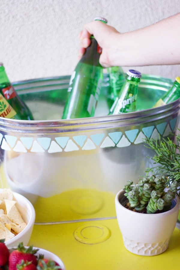 DIY Painted Galvanized Tub