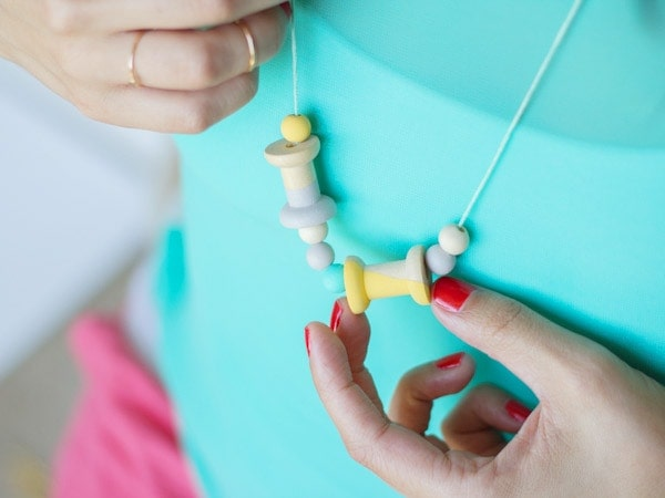 DIY Painted Wooden Necklace