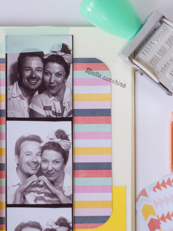 DIY Photobooth Strip Scrapbook
