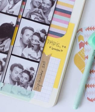 DIY Photobooth Strip Scrapbook thumbnail