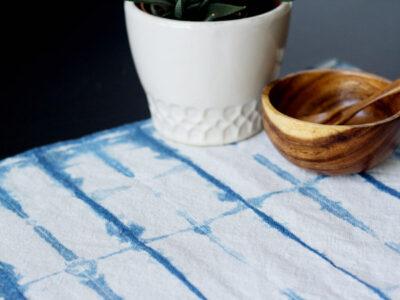 DIY Indigo Shibori Dyed Placemats