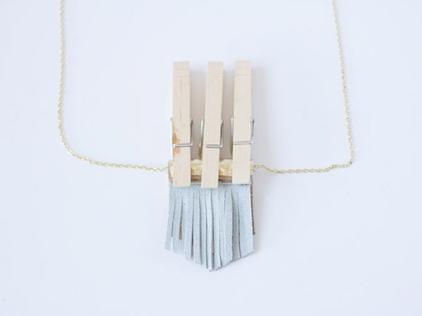 DIY Leather Fringe Necklace