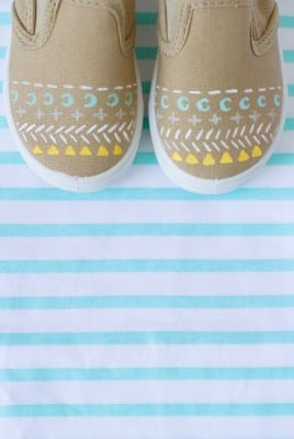 DIY Painted Pattern Sneakers