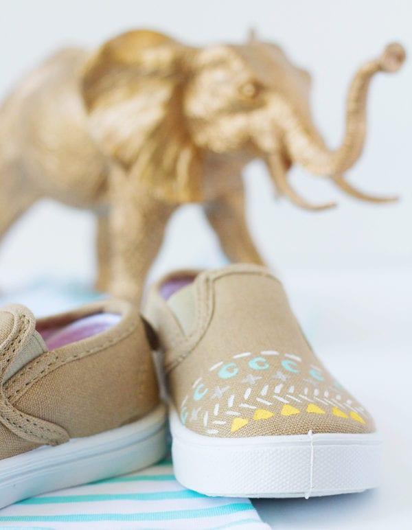 DIY Painted Pattern Sneakers thumbnail