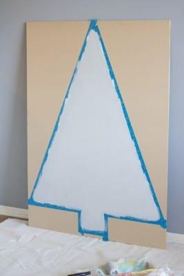 DIY Painted Plywood Christmas Tree