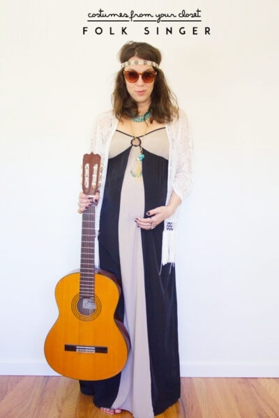 DIY Folk Singer Halloween Costume