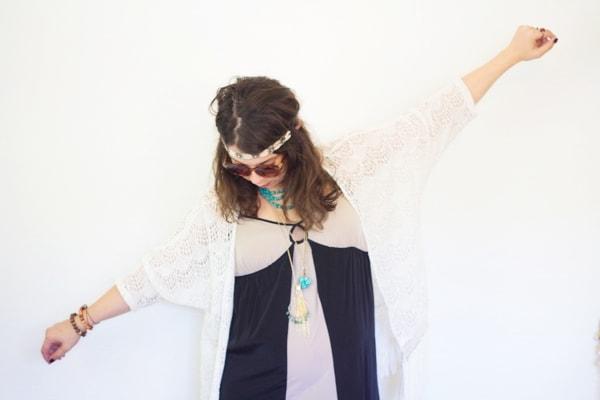 DIY Folk Singer Halloween Costume