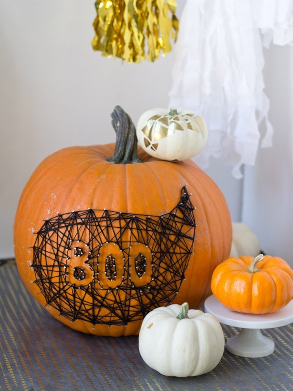 No-Carve String Message Pumpkins