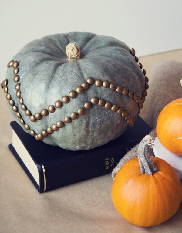 No-Carve Nailhead Trim Pumpkins
